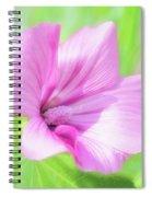 Pink Hollyhock Flower Spiral Notebook