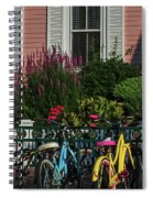 Pink House Bikes Cape May Nj Spiral Notebook