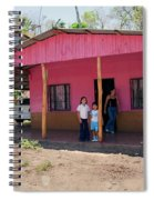Pink House In Costa Rica Spiral Notebook