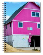 Pink House On The Beach 1 Spiral Notebook