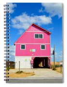 Pink House On The Beach 3 Spiral Notebook