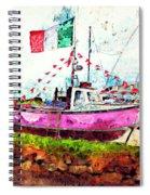 Pink Irish Boat Spiral Notebook
