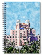 Pink Lady Don Cesar Watercolor Spiral Notebook