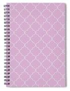 Pink Lavender Quatrefoil Spiral Notebook