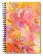 Pink Leaves Spiral Notebook