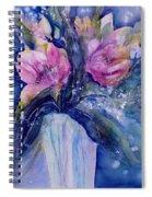 Pink Lilies In Vase Spiral Notebook