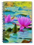Pink Lily Spiral Notebook