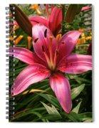 Pink Lily Lush Garden Spiral Notebook