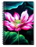 Pink Lotus From L.a. City Park Spiral Notebook