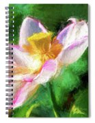 Pink Lotus Spiral Notebook