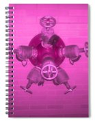Pink Male Pipe Spiral Notebook