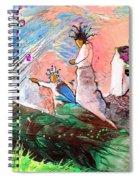 Pink Molecules Rain Spiral Notebook