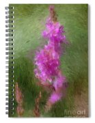 Pink Nature Abstract Spiral Notebook