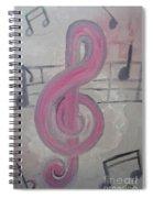 Pink Music Spiral Notebook