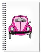 Pink On Wheels Spiral Notebook