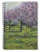 Pink Orchards Garden Spiral Notebook