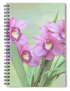 Pink Orchid Photo Sketch Spiral Notebook