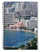 Pink Palace Waikiki Honolulu Spiral Notebook