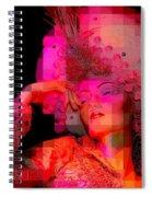 Pink Pixelated Princess Spiral Notebook