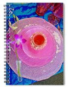 Pink Place Setting Spiral Notebook