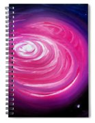 Pink Planet With Diffusing Atmosphere Spiral Notebook