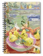 Pink Plate Of Pears Spiral Notebook