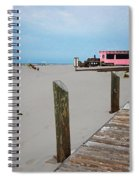 Pink Pony And Boardwalk Spiral Notebook