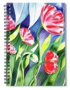 Pink Poppies Batik Style Spiral Notebook