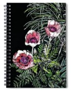 Pink Poppies Spiral Notebook