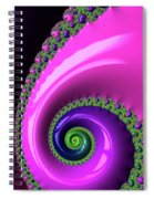 Pink Purple And Green Fractal Spiral Spiral Notebook