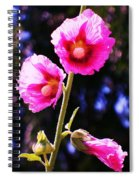 Pink Red Flower Spiral Notebook