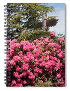Pink Rhododendrons With Totem Pole Spiral Notebook