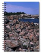 Pink Rock Shoreline Spiral Notebook