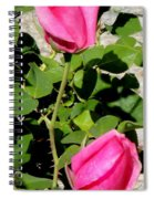 Pink Rose Buds Spiral Notebook