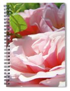 Pink Rose Flower Garden Art Prints Pastel Pink Roses Baslee Troutman Spiral Notebook