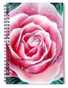 Pink Rose Flower Spiral Notebook