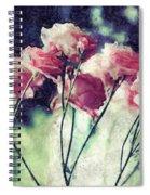 Pink Rose Flowers Spiral Notebook