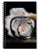 Pink Rose In Apple Spiral Notebook