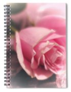 Pink Rose Macro Abstract 1 Spiral Notebook
