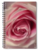 Pink Rose Macro Abstract Spiral Notebook