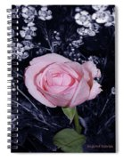 Pink Rose Of Imperfection Spiral Notebook