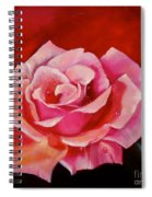 Pink Rose With Dew Drops Jenny Lee Discount Spiral Notebook