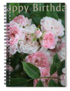 Pink Roses Birthday Card Spiral Notebook
