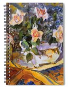 Pink Roses In Gaye's Dish Spiral Notebook