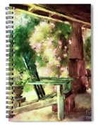 Pink Roses On The Porch Spiral Notebook