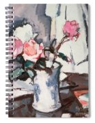 Pink Roses Spiral Notebook