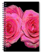 Pink Roses With Enameled Effects Spiral Notebook