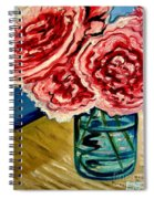 Pink Ruffled Peonies Spiral Notebook