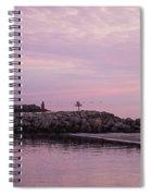 Pink Skies At Dawn Spiral Notebook