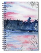 Pink Sky Reflections Spiral Notebook